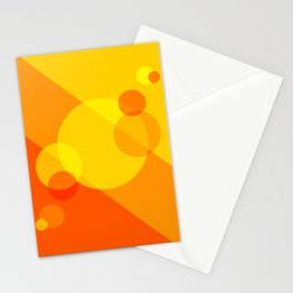 Orange Spheres Abstract Stationery Cards