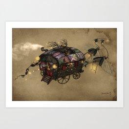 The Gypsy Wagon Art Print