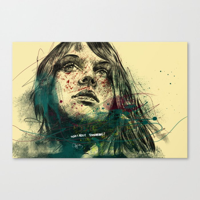 about tommorow Canvas Print