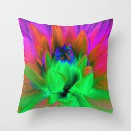 Solarized Begonia Throw Pillow