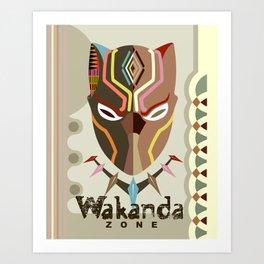 Wakanda Zone Art Print