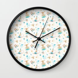 Princess Jasmine Icons on White Wall Clock