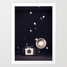 Flashy Vintage Camera Art Print