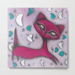 Bonnie Cat Metal Print