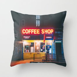 Coffee Shop, 14th Street Throw Pillow