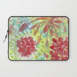 Ixora and Ferns - Watercolor Laptop Sleeve