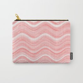 Pastel Coral Waves Carry-All Pouch