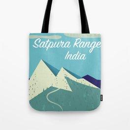 Satpura Range India travel poster Tote Bag