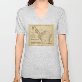 Map of the Harbor of Annapolis (1846) Unisex V-Neck