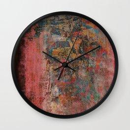 Elegante Signora in un Giorno Piovoso Wall Clock