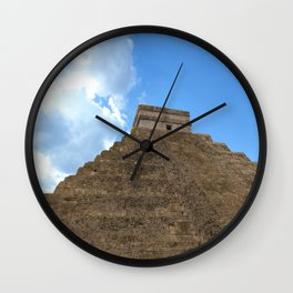 Chichen Itza 1 Wall Clock