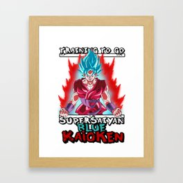 Training to go super saiyan blue kaioken - Goku Framed Art Print