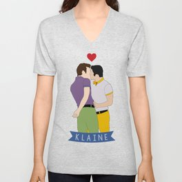 Klaine Kissing Unisex V-Neck