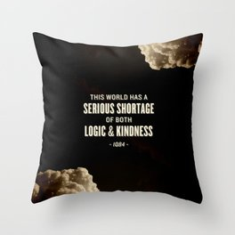 Logic and Kindness Throw Pillow