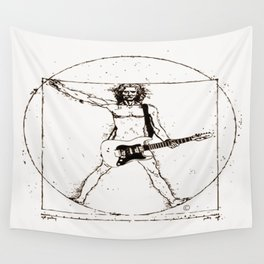 Guitar Man and Da Vinci Wall Tapestry