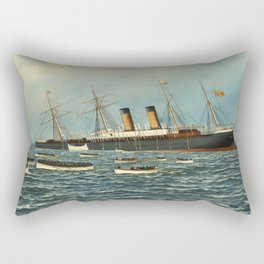 Vintage Illustration of The SS Oregon Sinking (1902) Rectangular Pillow