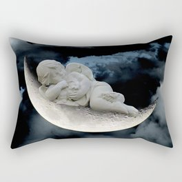 Angel Cherub Child Moon Blue Child's Room Art Bedroom Decor A401 Rectangular Pillow