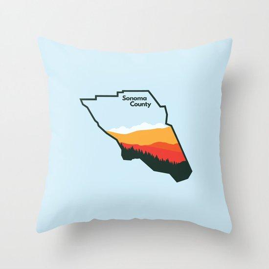 Sonoma County Throw Pillow