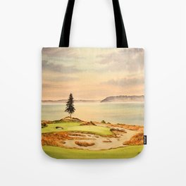Chambers Bay Golf Course 15th Hole Tote Bag