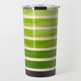 Sap Green Geometric Watercolor Painting Travel Mug