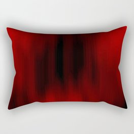 Black and Red Abstract Streaks Rectangular Pillow
