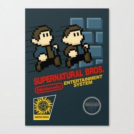 Supernatural  Bros. Box Art Canvas Print