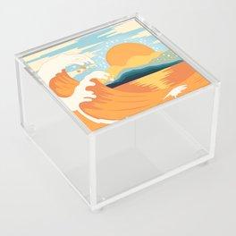 Orange wave Acrylic Box