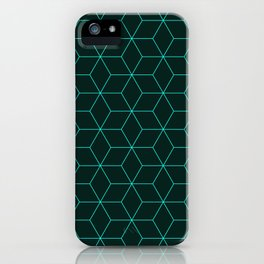 Cube Pattern 01 Green iPhone Case