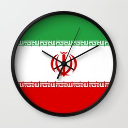 Iran Flag Wall Clock