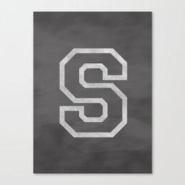 Letter S Canvas Print
