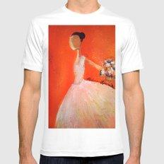Ballerina Mens Fitted Tee White MEDIUM