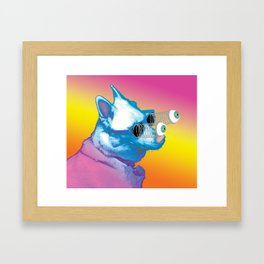 Jeffy the Springy Eyed Husky Framed Art Print