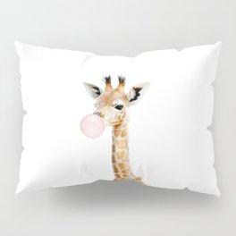 Bubble Gum Baby Giraffe Pillow Sham