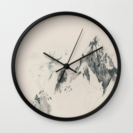 On the mountains 1 Wall Clock