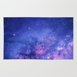 Blue Purple Night Sky, Universe, Galaxy Rug