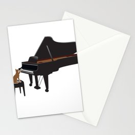 Great Gift For Piano And Cat Lover. Shirt Ideas Stationery Cards