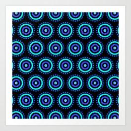 Seamless Colorful Circle Pattern III Art Print