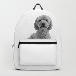 golden doodle b&w Backpack