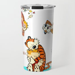 Calvin and Hobbes all Travel Mug
