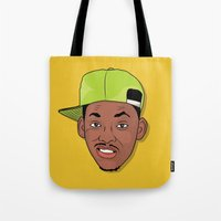 fresh prince Tote Bags featuring Fresh Prince of Bel-Air by TheMohamz