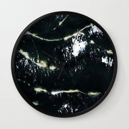 Black Scarf Design Wall Clock