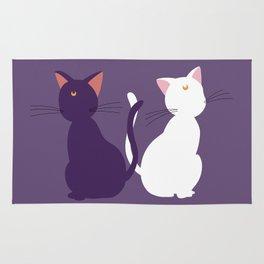 Luna & Artemis (Minimalist) - Purple Rug