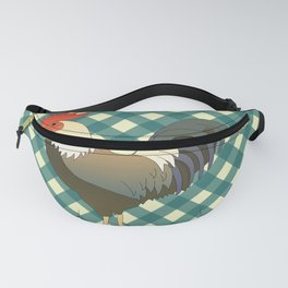 ROOSTER ON TEAL Fanny Pack