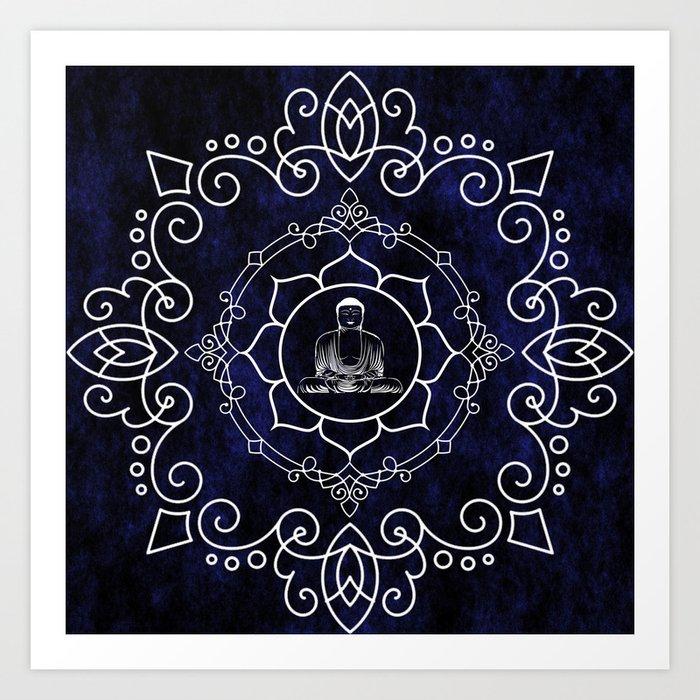 Buddha Lotus Mandala Art Print