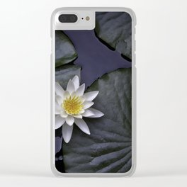 white water lily Clear iPhone Case