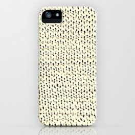 White Stockinette iPhone Case