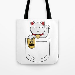 Maneki Neko Pocket Tote Bag