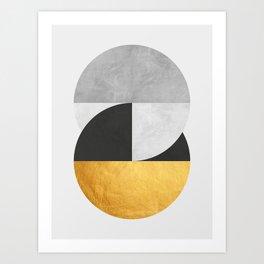 Golden Geometric Art IX Art Print