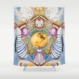 Fetching the Moon Shower Curtain