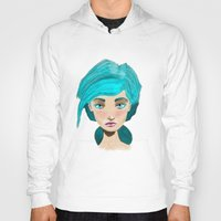 turquoise Hoodies featuring Turquoise by Hingy Art